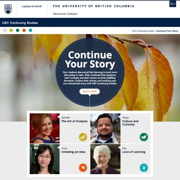 Continue Your Story, UBC Continuing Studies