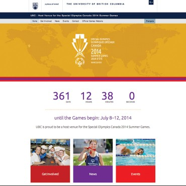 UBC – Host Venue for the Special Olympics Canada 2014 Summer Games